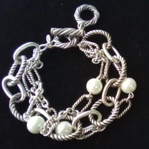 Premier Jewelry~Silver Chain ,Toggle Bracelet.